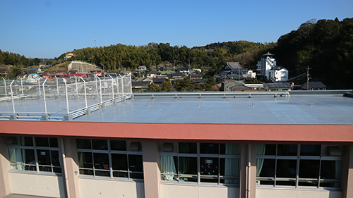 鹿児島市の小学校の屋根防水工事
